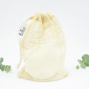 10pcs Reusable Washable Bamboo/Cotton Makeup Remover Pad Wipes w/ Cotton Bag