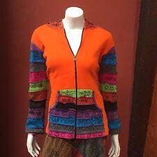 Patchwork cortes de navajas multicolor Sudadera Con Capucha Chaqueta De Algodón