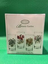 Portmeirion Botanic Garden highball / hi-ball floral glass set of 4 NEW IN BOX