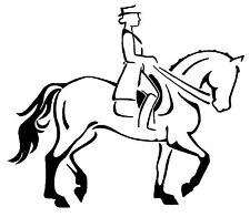 DRESSAGE RIDER HORSE STICKER DECAL BRAND NEW FOR CAR,FLOAT, TACK BOX, 4WD, UTE