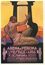 PUBBLICITA' 1927 ARENA DI VERONA STAGIONE LIRICA 1927 PLINIO CODOGNATO ARPA AIDA