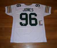 PACKERS Sean Jones signed jersey w/ SB XXXI Champs JSA COA AUTO Autograph