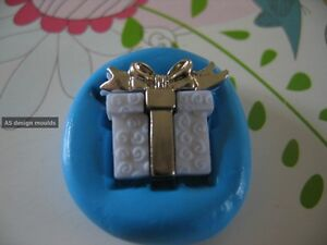 Present/Gift Box Birthday Silicone Mould/Mold Sugarcraft, Cupcakes, Toppers