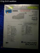 Sony Service Manual CCD AU230 /F350E /F350EPAK Video 8 Camera  (#6594)
