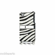 Uunique Safari Zebra Striped Synthetic Hair on Hard Shell Case for iPhone 3G 3GS