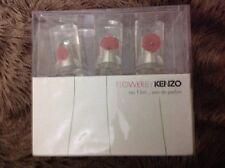 Flower By Kenzo Eau De Parfum 3 Miniatures Coffret Set 3. BRAND NEW BOX