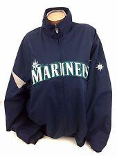 Seattle Mariners Mens Coat Jacket Therma Base Majestic Logo Navy Baseball Sz 2XL