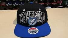 NHL Tampa Bay Lightning 2 Tone Black Royal Blue Team Logo Retro Snapback Cap