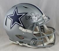 Ezekiel Elliott Signed Cowboys F/S Speed Authentic Helmet- Beckett Auth *Black