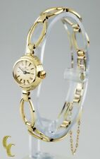 14k Yellow Gold Carl Bucherer Hand-Winding Watch w/ Fancy Link Band