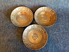 Set of 3 Vintage Chinese Zodiac Motif Brass Dishes / Bowls Made in Korea