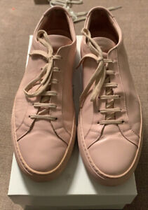 COMMON PROJECTS 1528-46-2015 Achilles Size 13/46 Leather Sneakers - Blush