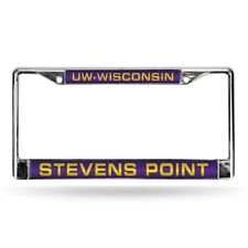 Wisconsin Stevens Point Pointers Chrome Metal Laser Cut License Plate Frame