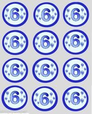Decoración de color principal azul para tartas de fiesta, cupcakes