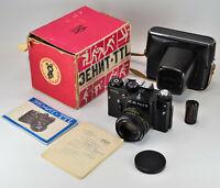 "1980 EXPORT USSR ""ZENIT-TTL MOSCOW 80' OLYMPICS"" + HELIOS-44m lens, FULL SET"
