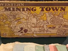 Marx Western Mining Town Play Set W/ Box
