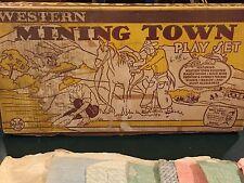 Marx Western Mining Town Play Set W/ Box