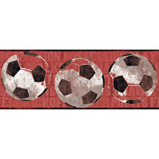 NEW Red Soccer Ball Sports Wallpaper Border ZB3172BD