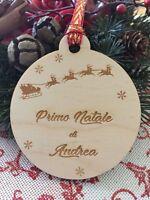 Pallina primo Natale per albero di Natale con incisione laser personalizzata,