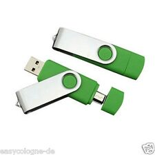 USB Flash Drive 32GB USB Stick  green  Dual OTG USB 2.0  Micro USB
