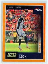 DREW LOCK 2020 SCORE FOOTBALL FIRST DOWN PARALLEL SP 3/10 JERSEY NUMBER BRONCOS