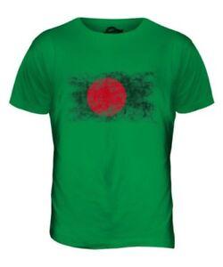 Bangladesh Distressed Flagge Herren T-Shirt Top aus Hemd Fußball-geschenk