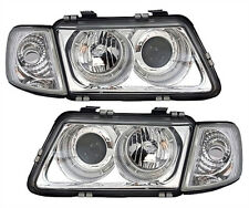 Chrome clear ANGEL EYES Headlights for Audi A3 8L 96-00 including INDICATORS