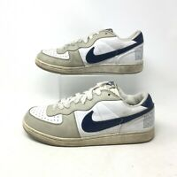 Nike Terminator Low Casual Sneakers Low Top Lace Up Leather Blue White Mens 11