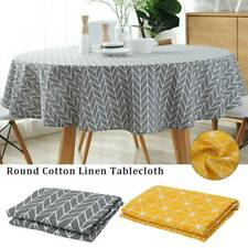 150/120cm Round Colorful Cotton Table Cloth Household Garden Dining Tableware √