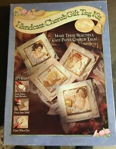 Vintage Handcast Cherub Gift Tag Kit- Brown Hill Paper Art Hill Design  New