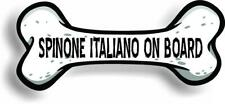 "Dog on Board Spinone Italiano Bone Car Magnet Bumper Sticker 3""x7"""