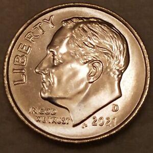 2021-D Roosevelt Dime 10c - BU - ***EXACT COIN SHOWN*** - FREE SHIPPING #54