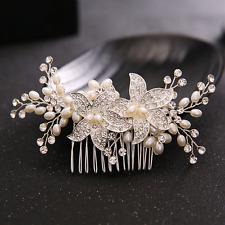 Bridal Wedding Hair Comb Starfish Pearl Crystal Hairpin Head Jewelry Accessories