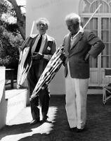 8x10 Print Charlie Chaplin with Jean Cocteau 1955 #CCJC