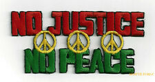 NO JUSTICE NO PEACE SIGN HAT PATCH PIN UP QUILT GIFT AMERICAN CHICKEN