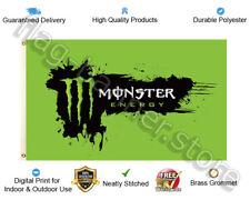 Monster Energy Drink Flag Banner 3x5ft Garage Shop Decor Splash Sign FREE SHIPPI