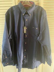 Colours by Alexander Julian Dark Blue Long-Sleeve Shirt New Old Stock Size XL