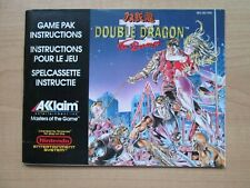 NES - MANUAL ONLY - Double Dragon II - The Revenge