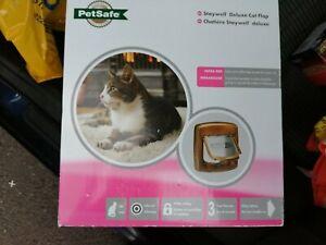 PETSAFE Staywell Deluxe Cat Flap/Door 4 WAY brown magnetic infa red