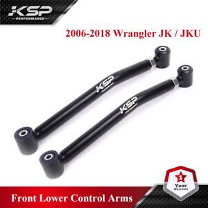 """KSP Adjustable Front Lower Control Arms 0-4.5"""" Lift for JK Wrangler 2006-2018"""