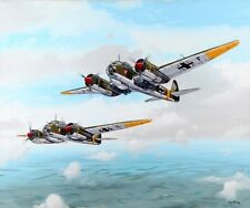 Painting Acrylic On Panel  KG-3 Blitz Squadron Over Russian Front By Ray Waddey