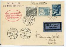 GRAF ZEPPELIN 1930 AUSTRIA Kassel Flight Breslau Vienna