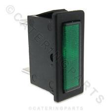 LINCAT NE34 RECTANGULAR PUSH FIT 30mm x 11mm GREEN NEON INDICATOR LAMP 230V