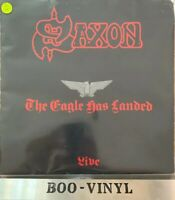 SAXON ~ THE EAGLE HAS LANDED (LIVE) ~ 1982 UK EMBOSSED ROCK VINYL LP