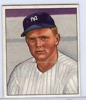 Fred Sanford 1950 50 Bowman #156 Vintage Baseball Card Yankees