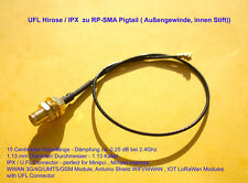 UFL Hirose / IPX zu RP-SMA Pigtail für Wlan Mini Pci, minipci express, Arduino