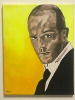 Jason Statham fast and furious transporter hand painted portrait canvas signed