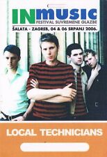FRANZ FERDINAND 04.07.2006. ZAGREB CROATIA - LOCAL TECHNICIANS - BACKSTAGE PASS