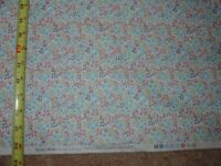 VTG STYLE FLORAL Flo's Little Flowers Blue 1 Calico Quilt COTTON FABRIC 1 YD BTY