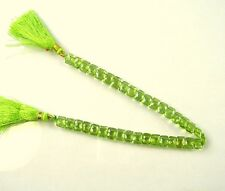 "PERIDOT double drilled faceted rectangle beads AAA+ 8x6mm 8.5"" strand"